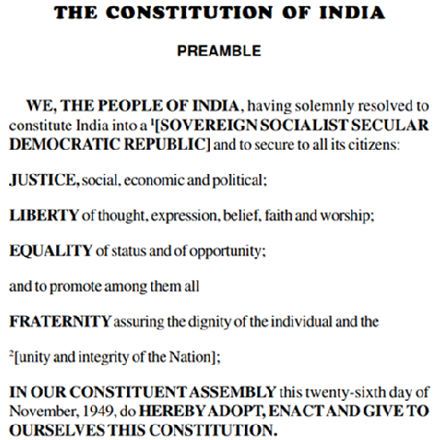preamble and values in constitution