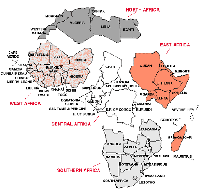 Rainforests In Africa Map.Africa World Regional Geography