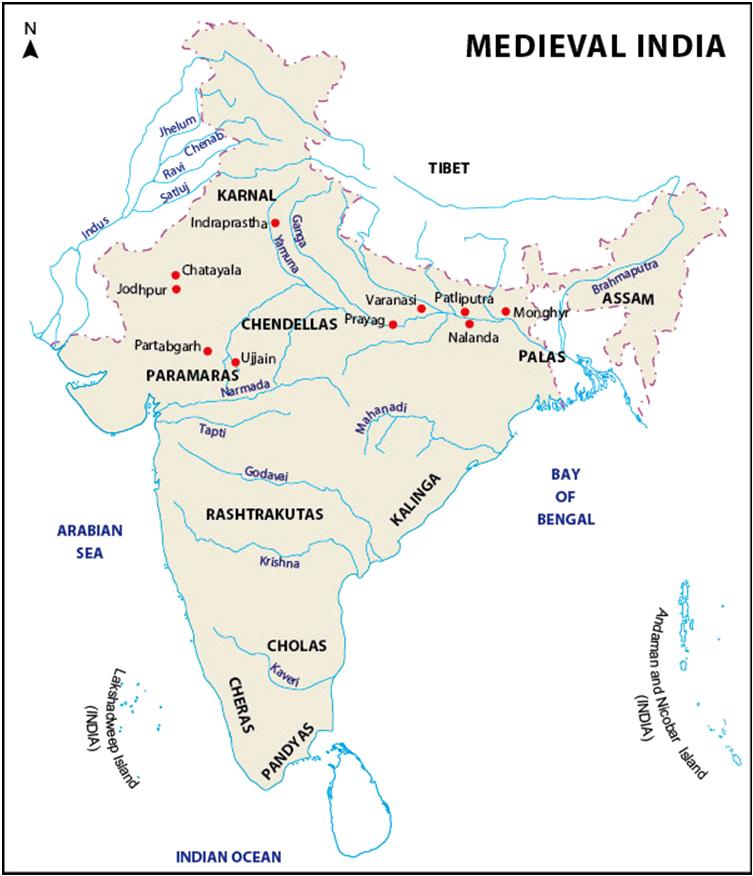 Major Dynasties Of North India