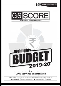 Highlights Budget 2019